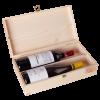 Кутия за 2 бутилки вино със закопчалка, натурална
