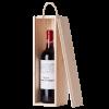 Кутия за 1 бутилка вино с плъзгащ капак, натурална голяма