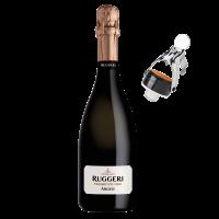 Комплект Просеко Руджери Арджео + ПОДАРЪК Стопер за пенливо вино Руджери, 1 бр.