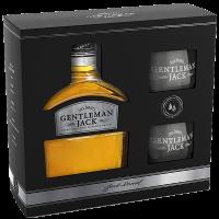 Уиски Джак Даниелс Джентълмен +2 чаши в кутия,  0.7 л