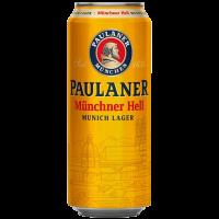 Бира Пауланер Мюнхенер лагер 4.9% КЕН, 0.5 л