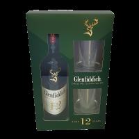 Уиски Гленфидих 12 г. +2 чаши, 0.7 л
