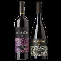 Комплект 2 бут. Ормано Червено 2017, 0.75 л + Ормано Бяло Органик 2018, 0.75 л