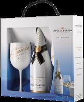 Шампанско Моет Айс Империал NV + 2 айс чаши, 0.75 л