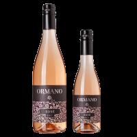 Комплект 1 бут. Ормано Розе 2018, 0.75 л + 1 бут. Ормано Розе Мелник 2018, 0.375 л