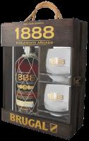 Ром Бругал 1888 Гран Резерва + 2 чаши в кутия, 0.7 л