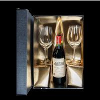 Кутия за 1 бут. с 2 чаши Ънбрандед за червено вино Бордо, 1 бр.