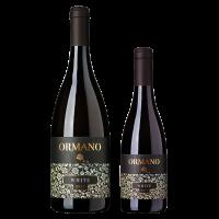 Комплект 1 бут. Ормано Бяло Органик 2018, 0.75 л + 1 бут. Ормано Бяло Органик 2018, 0.375 л