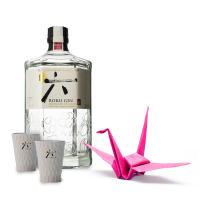 Комплект Джин Року японски 43%, 0.7 л + ПОДАРЪК 2 чашки, 1 жерав оригами САМО ONLINE
