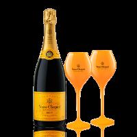 Шампанско Вьов Клико Брут + 2 чаши ПОДАРЪК