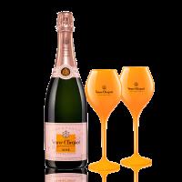 Шампанско Вьов Клико Брут Розе + 2 чаши ПОДАРЪК