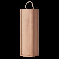 Кутия за вино 1 бутилка с плъзгащ капак, дъб, 1 бр.