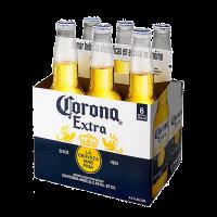 6 Бири Корона екстра 4.5% мексиканскa бутилка, 6 х 0.355 л
