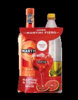 Комплект Вермут Мартини Фиеро 15%, 0.7 л + под. Швепс Тоник 1.2 л