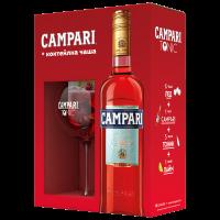 Ликьор Кампари Битер + Коктейлна чаша, 0.7 л