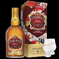 Комплект Уиски Чивас Регал Екстра 13 г., 0.7 л + 2 чаши Гленкерн