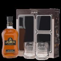 Уиски Джура Ориджинaл 10 г Сингъл Малц 40% + 2 чаши, 0.7 л